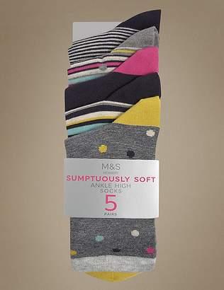 Marks and Spencer 5 Pair Pack Ankle High Socks