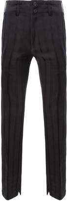 Ann Demeulemeester striped double waistband slim fit trousers
