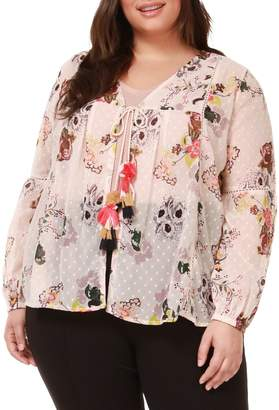 Dex Plus Floral-Print Cardigan