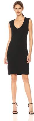 Kenneth Cole New York Kenneth Cole Women's Classic Fitted V-Neck Dress