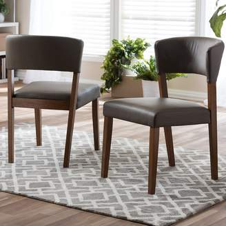 Baxton Studio Montreal Mid-Century Dining Chair 2-piece Set
