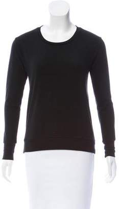 LnA Cutout Crew Neck Sweater