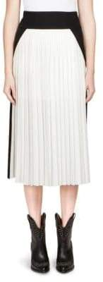 Givenchy Pleated Colorblock Skirt
