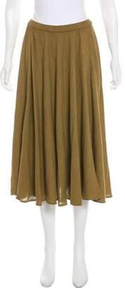 Mes Demoiselles Silk Midi Skirt