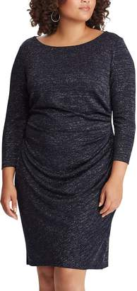 Chaps Plus Size Ruched Sheath Dress