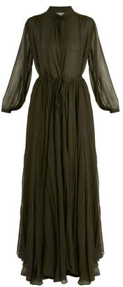 By. Bonnie Young - Long Sleeved Silk Chiffon Gown - Womens - Green