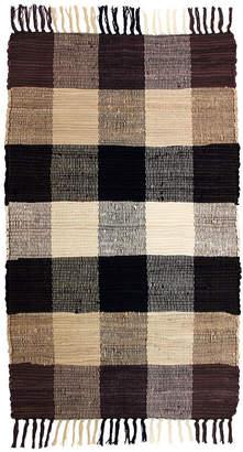 JCPenney Park Smith Agra Plaid Washable Cotton Rectangular Rug