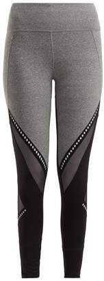 Track & Bliss - Get In The Ring Mesh Panel Leggings - Womens - Black Grey