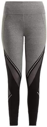 Track & Bliss - Get In The Ring Mesh Panel Leggings - Womens - Black Grey