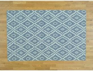 Isabelline One-of-a-Kind Germanos Reversible Handmade Kilim Gray Wool Area Rug Isabelline