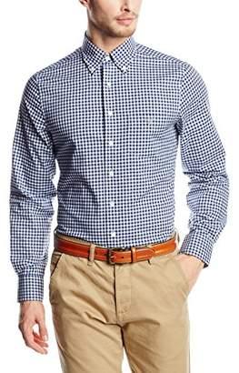Gant Men's The Poplin Gingham Shirt Regular Fit Checkered Button Down Long Sleeve Casual Shirt,(Manufacturer Size: M)