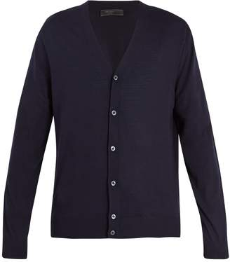 Prada Long-sleeved button-front wool cardigan