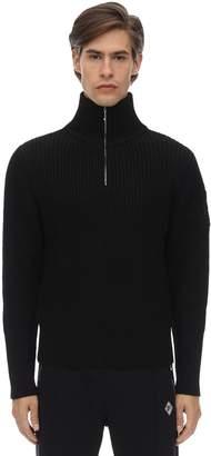 Diesel Gr Uniforma X Red Tag Zip-up Wool Knit Sweater