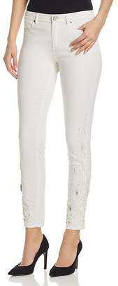 Elie Tahari Azella Embellished Jeans in White