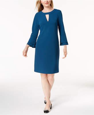 Charter Club Crepe Ruffle-Cuff Dress, Created for Macy's