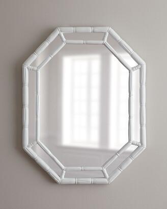 Horchow White Octagonal Mirror