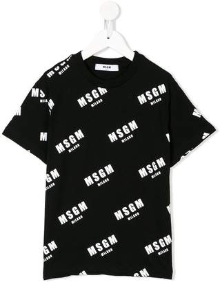 MSGM all-over logo T-shirt