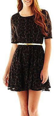 JCPenney by&by Lace Skater Dress
