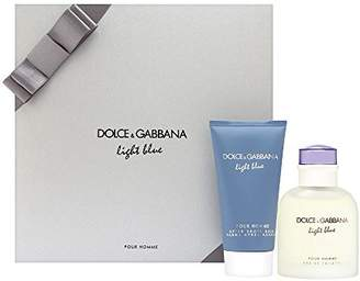 Dolce & Gabbana Light Blue by for Men 2 Piece Set (2.5 oz EDT Spray + 2.5 oz After Shave Balm)