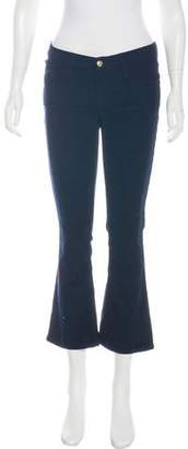 Frame Mid-Rise Wide-Leg Pants