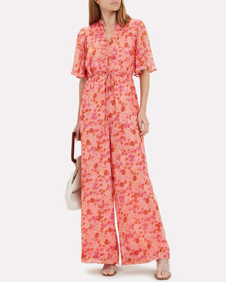 By Ti Mo Bytimo Wide Leg Floral Georgette Jumpsuit