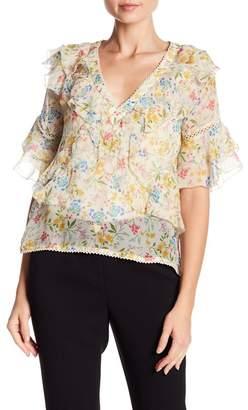 Love Sam Blossom Patterned V-Neck Blouse