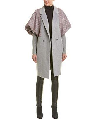 BCBGMAXAZRIA Women's Houndstooth-Trimmed Coat