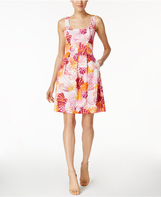 Nine West Printed Fit & Flare Dress $79 thestylecure.com