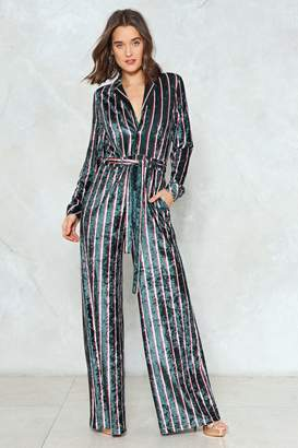 Nasty Gal Jump to It Striped Jumpsuit