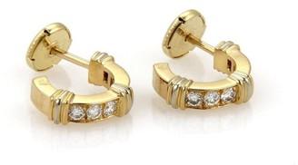 Contessa 18K Yellow Gold with Diamond & Ruby Mini Huggie Earrings