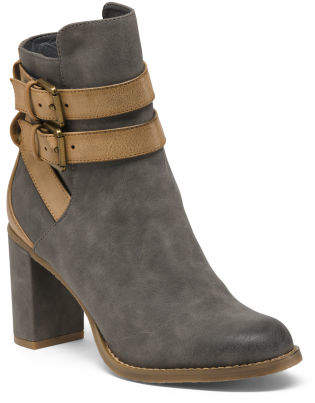 Buckle Ankle Wrap Booties