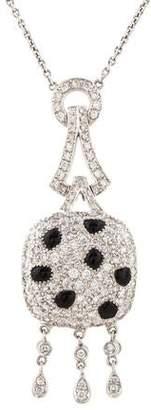 18K Diamond & Onyx Pendant Necklace
