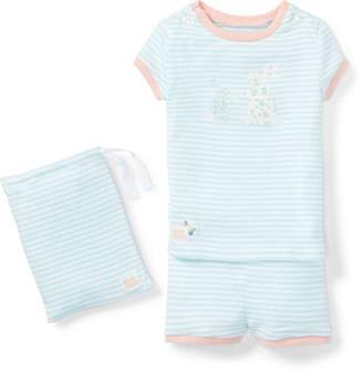 Ralph Lauren Bunny Cotton Pajama Short Set