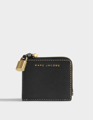 Marc Jacobs The Grind Snap Wallet in Black Cow Leather