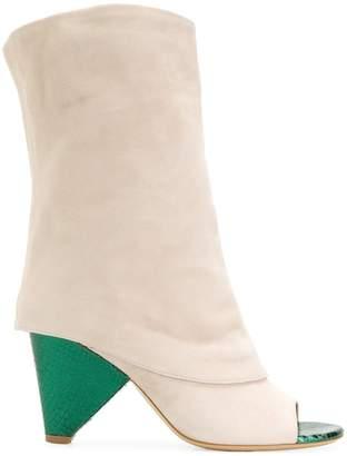 Aldo Castagna peep toe boots