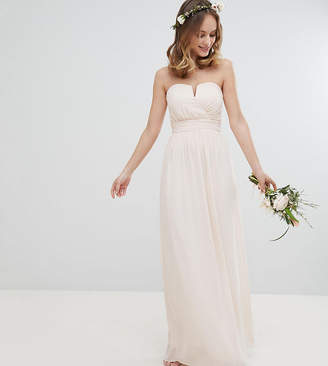 TFNC Petite Bandeau Maxi Bridesmaid Dress