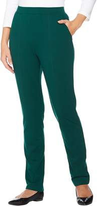 Denim & Co. Active Regular French Terry Pull-on Pants w/ Seam Detail