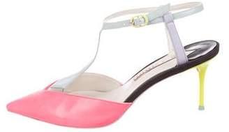 Sophia Webster Neon Pointed-Toe Pumps
