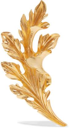 Oscar de la Renta Gold-tone Brooch - one size