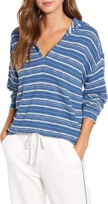 Lou & Grey Crochet Stripe Hoodie