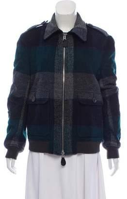 Burberry Plaid Zip Front Coat