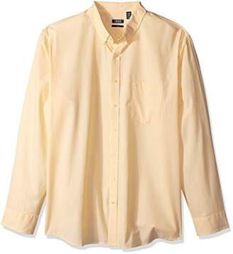 Izod Men's Essential Check Long Sleeve Shirt (Big Tall Slim)