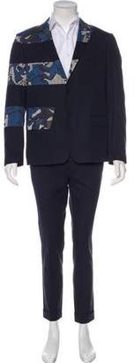 Kenzo Abstract Print Suit