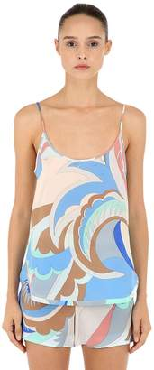 Emilio Pucci Printed Silk Sleeveless Top