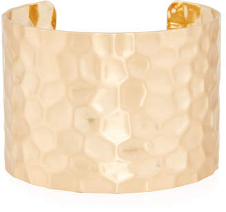 Panacea Wide Hammered Gold Plated Cuff Bracelet