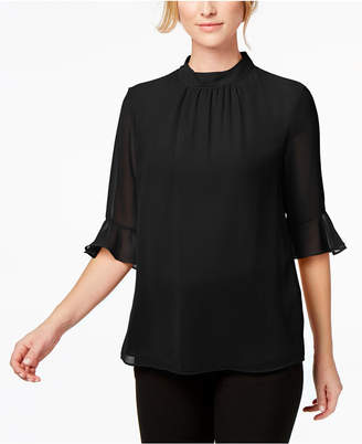 Calvin Klein Bell-Sleeve Chiffon Top, Regular & Petite