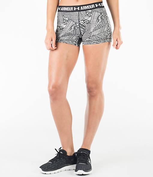 Under Armour Women's HeatGear 3 Inch Printed Compression Training Shorts