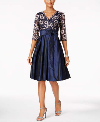 Jessica Howard Lace Taffeta Fit & Flare Dress $119 thestylecure.com
