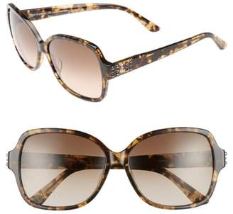 Juicy Couture Black Label 57mm Square Sunglasses