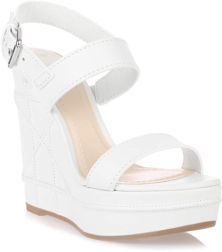 Dior Yacht white leather wedge sandal